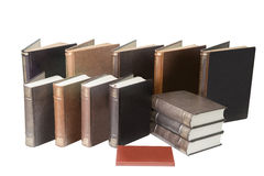 Pile of old books isolated on white background Royalty Free Stock Photography