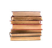Pile of old books, isolated on white. History. Stock Images