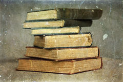 Pile of old books. Vintage photo stock images