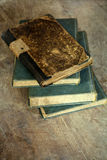 Pile of old books. Vintage photo royalty free stock images