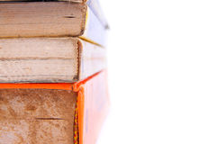 Pile of old books. On a white background Royalty Free Stock Photography
