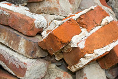 Pile of Old Bricks Royalty Free Stock Photo