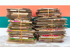 Pile of old cardboard boxes for recycling Royalty Free Stock Photography