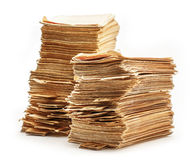 Pile of old catalogue cards Royalty Free Stock Photography