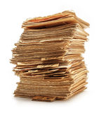 Pile of old catalogue cards Royalty Free Stock Photo
