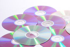 Pile of old cds. Detail Stock Image
