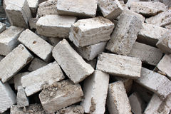 Pile of old cement blocks Royalty Free Stock Images