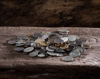 Pile of old coins Stock Photography