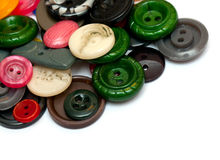 Pile of old colorful buttons Royalty Free Stock Photography