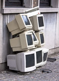 Pile of old crt monitors. Pile of eight old crt monitors awaiting disposal Stock Images
