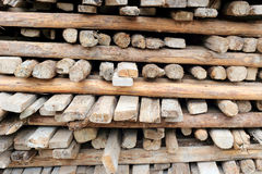 Pile of old and dirty lumber Stock Photo
