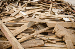 Pile of old and dirty lumber Stock Photography