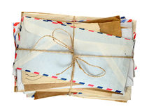 Pile of old envelopes Royalty Free Stock Photography