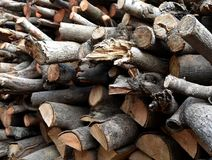 Pile of old firewood. For background Stock Photography