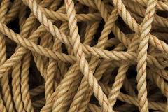 Pile of old fisherman's rope Stock Photography