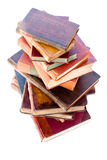 Pile of old leather bound books Stock Photos