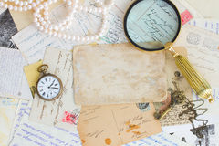 Pile of old letters Royalty Free Stock Images