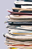 Pile of old magazines and books Royalty Free Stock Photography