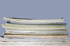 Pile of old magazines Royalty Free Stock Images