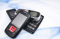 Pile of old mobile phone. Stock Photography