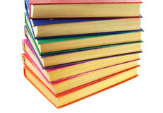 Pile of old multi-coloured books Stock Images