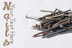 Pile of old nails Royalty Free Stock Image