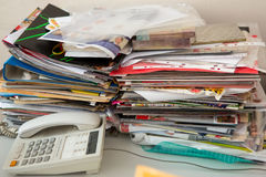 Pile of old newspapers Royalty Free Stock Photos