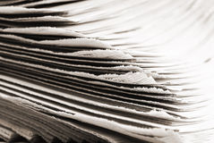 Pile of old newspapers Stock Image