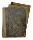 Pile of old notebooks. Isolated on white stock image
