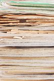 Pile of old paper notebooks. Pile of old paper note-books and other papers stock photo