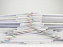 Pile of old paperwork overload Stock Photography