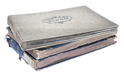 Pile of old photograph albums Royalty Free Stock Photography