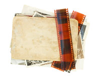 Pile of old photos Royalty Free Stock Images