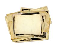 Pile of old photos and letters Royalty Free Stock Image