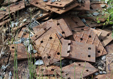 A Pile of Old Rusted Parts Royalty Free Stock Photos