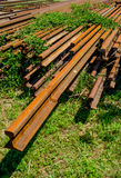 Pile Of Old Rusty Rails Royalty Free Stock Photos