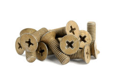 Pile of old screw Stock Image