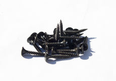 Pile of old screw Royalty Free Stock Photos