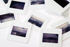Pile of old slide frame Stock Images