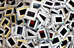 Pile of old slides Royalty Free Stock Photography