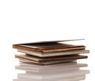 Pile of Old Spiral Note Pads Royalty Free Stock Image