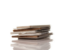 Pile of Old Spiral Note Pads Stock Photography