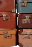 Pile of old suitcase Stock Photo