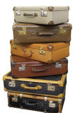Pile of old suitcases Royalty Free Stock Photo