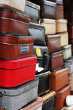 Pile of old suitcases Royalty Free Stock Image