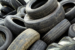 Pile of old tires Royalty Free Stock Photo