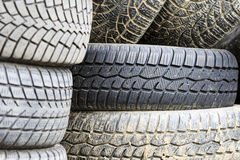 Pile of old tires Royalty Free Stock Image