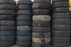 Pile of old tires Royalty Free Stock Photography