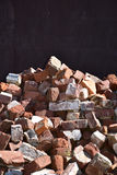 Pile of Old Used Bricks. A pile of old used reclaimed bricks royalty free stock photo