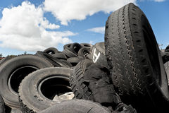 Pile of tires Royalty Free Stock Photos